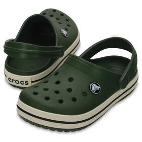 Crocs Crocband Clogs Kids Forest Green/Stucco